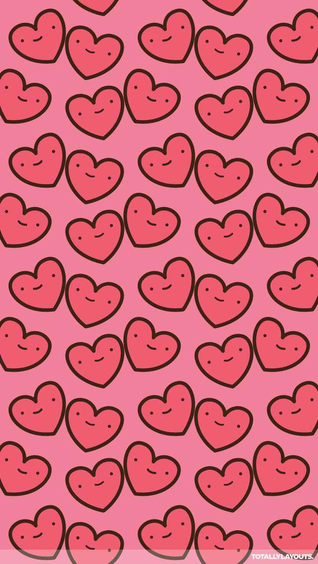 How to install this Cute Kawaii Happy Hearts iPhone Wallpaper 640x1136