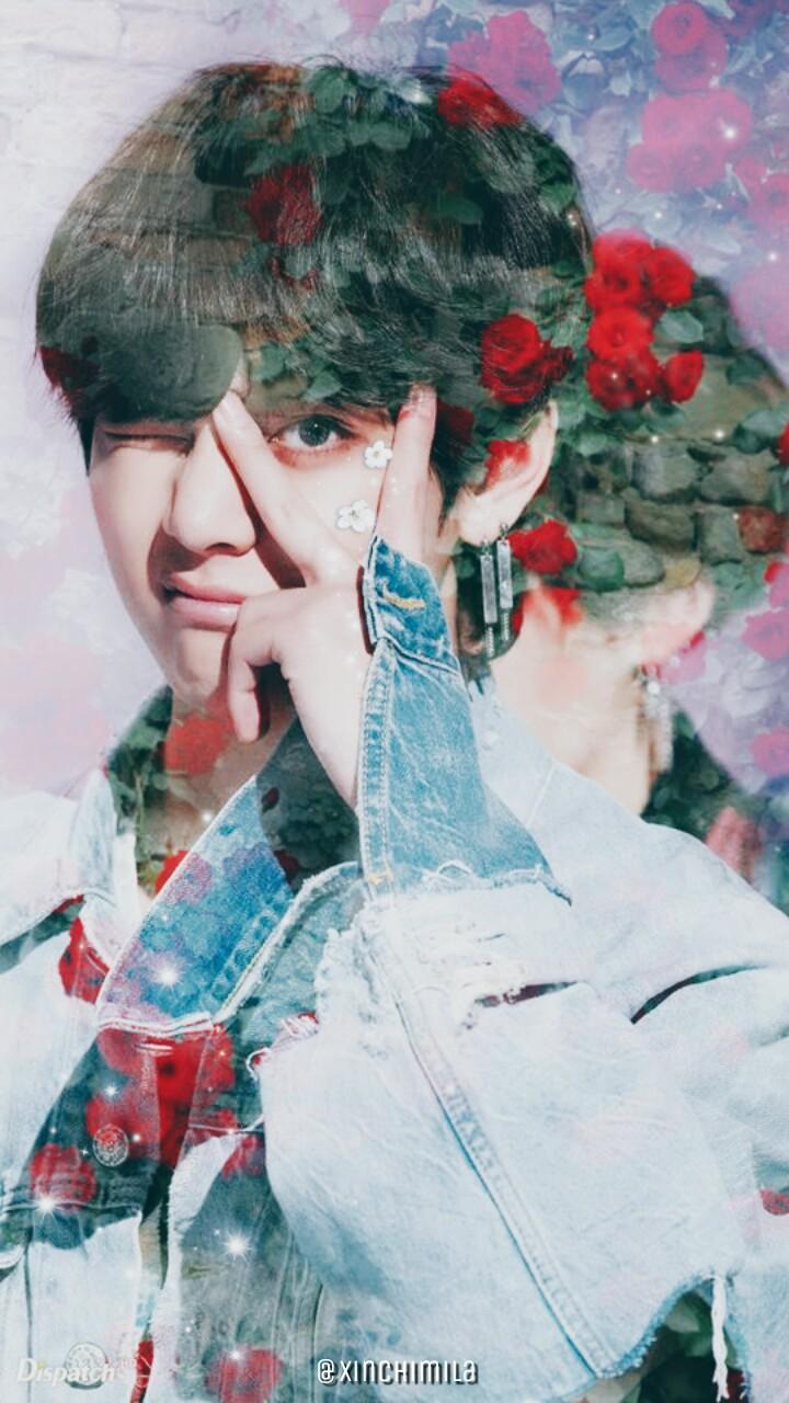 BTS Wallpaper Lock Screen Kim Taehyung V FAKE LOVE 720x1280
