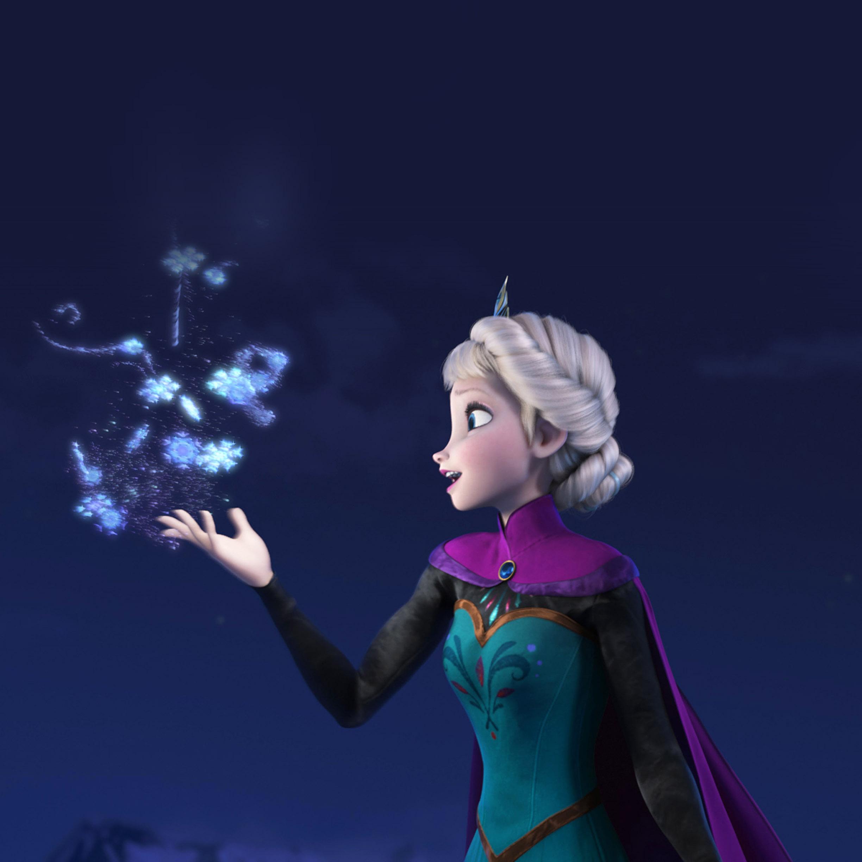 FREEIOS7 frozen magic by elsa   parallax HD iPhone iPad wallpaper 2448x2448