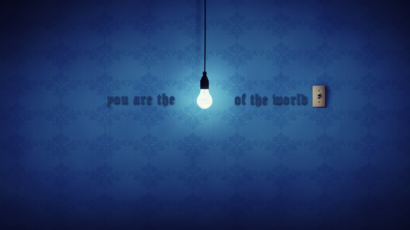 You are the light of the world. A town built on a hill cannot be ...