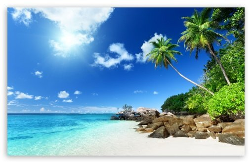 Paradise Beach HD wallpaper for Standard 43 54 Fullscreen UXGA XGA 510x330
