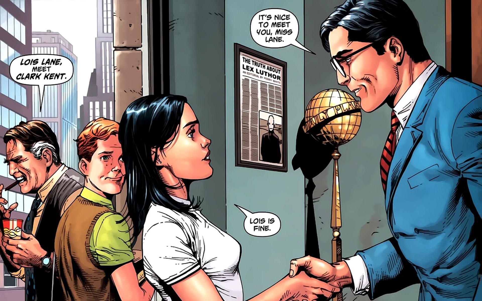 DC Comics Superman Lois Lane Clark Kent Perry White Jimmy 1920x1200