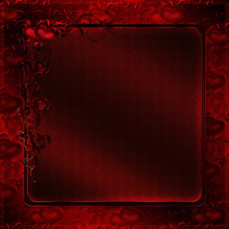 Red Heart Black Background Wallpapersafari