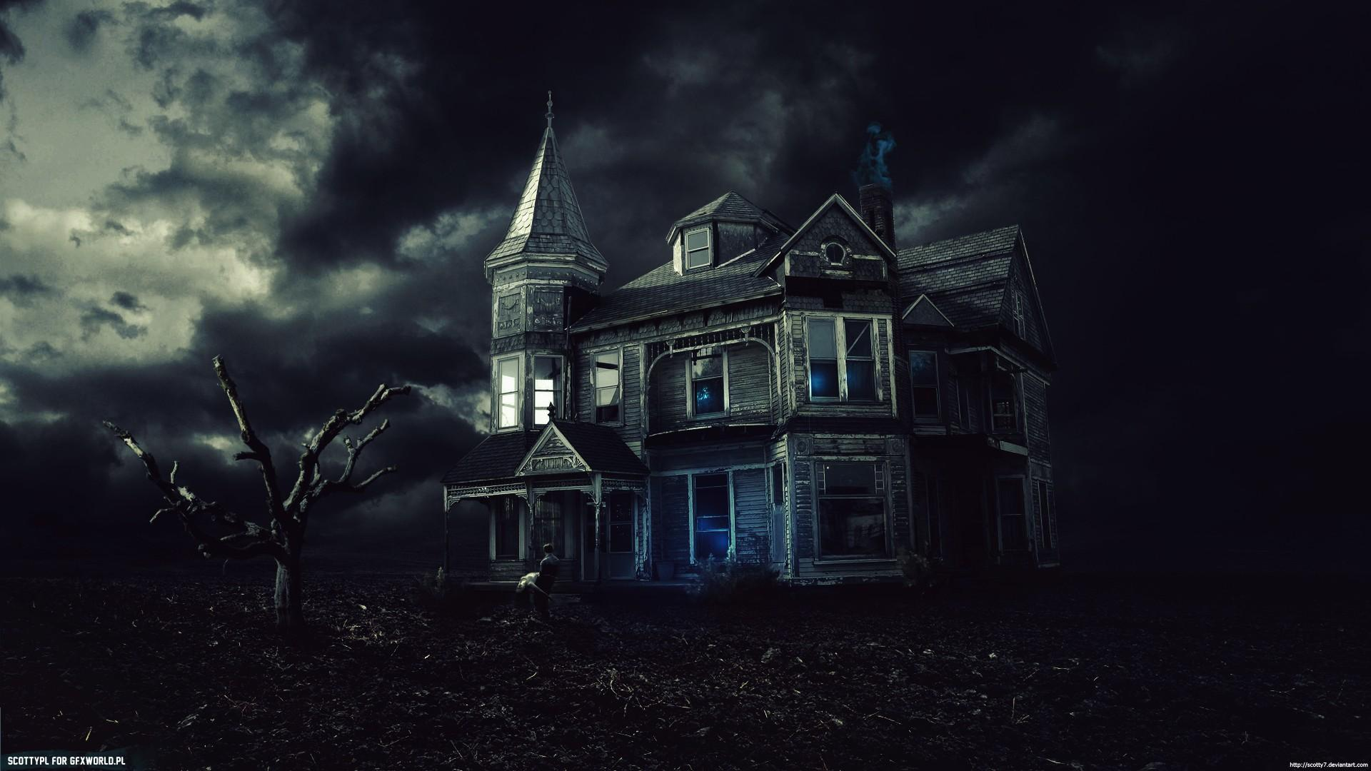 Free Download Creepy Dark Haunted House Houses Wallpaper