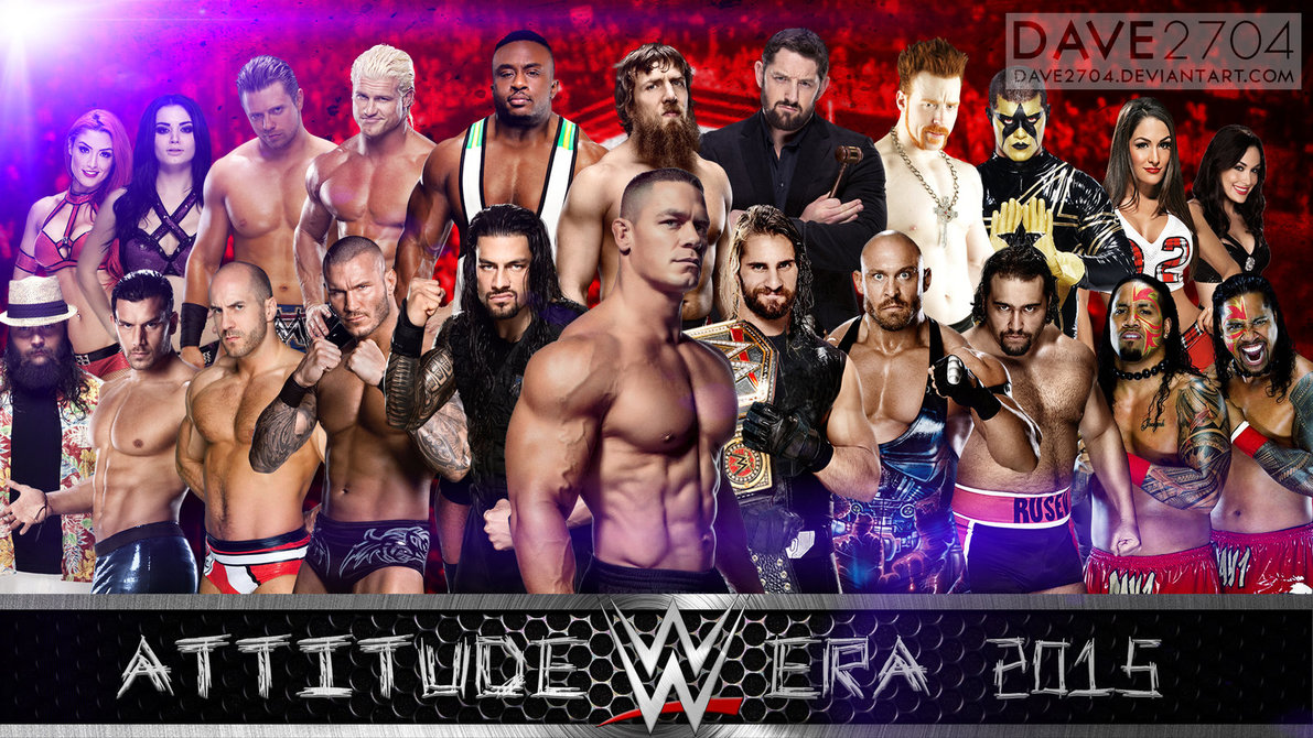 WWE Attitude Era 2015 Wallpaper by dave2704 1191x670