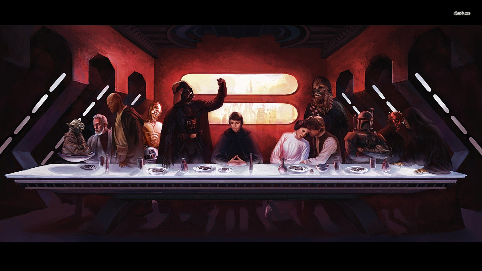 Star Wars Last Supper wallpaper   Artistic wallpapers   14701 1920x1080