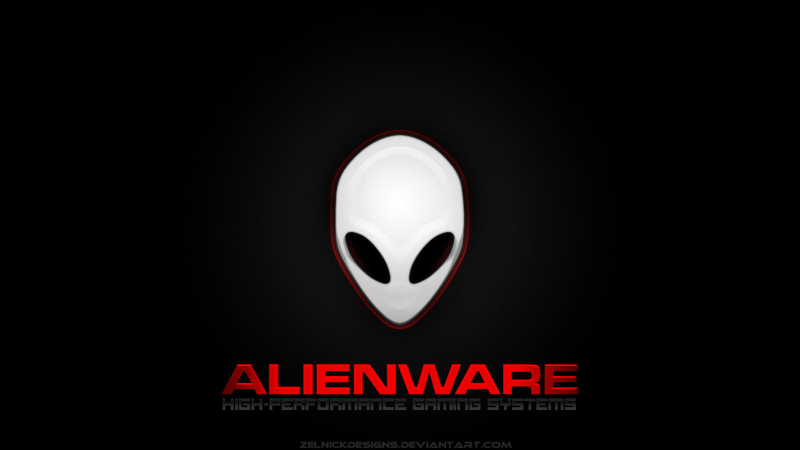 Alienware Wallpaper v1 Red by ZelnickDesigns on deviantART 1600x900