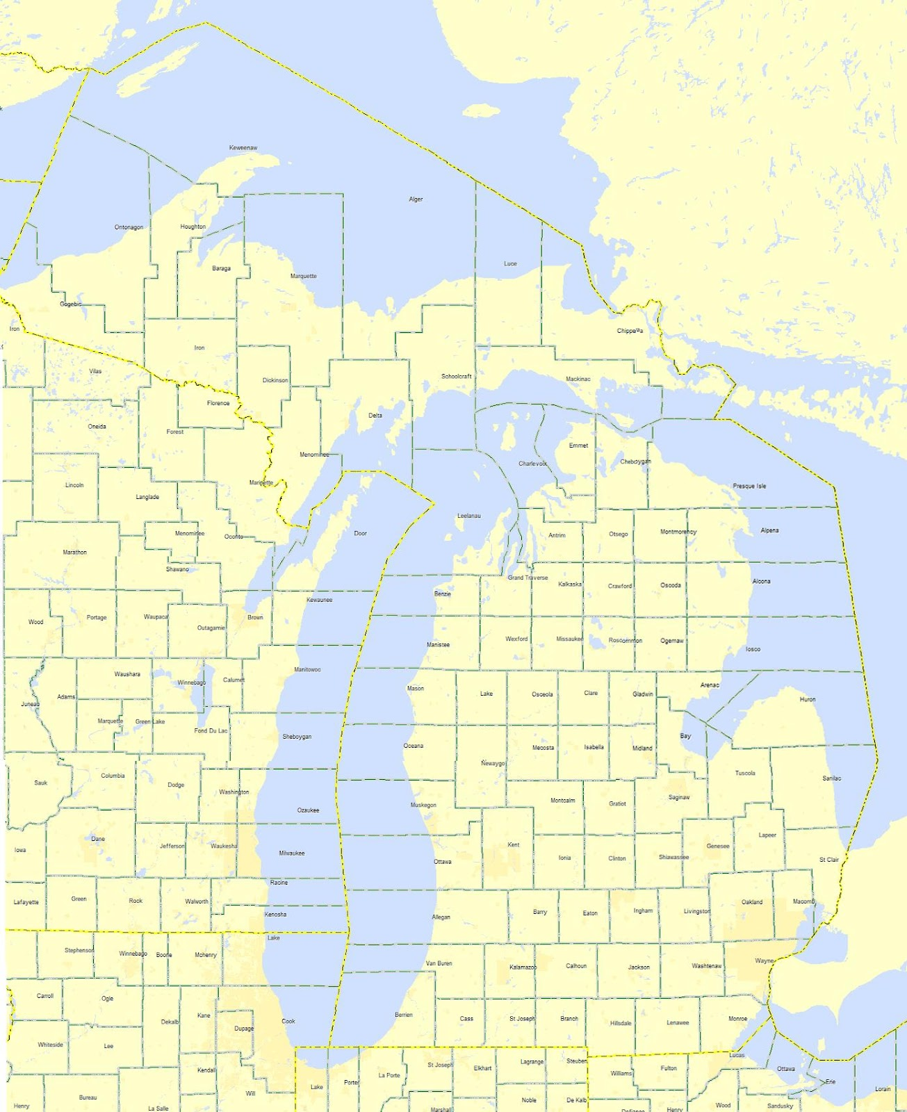 michigan county maps with township and range michigan county maps 1305x1600