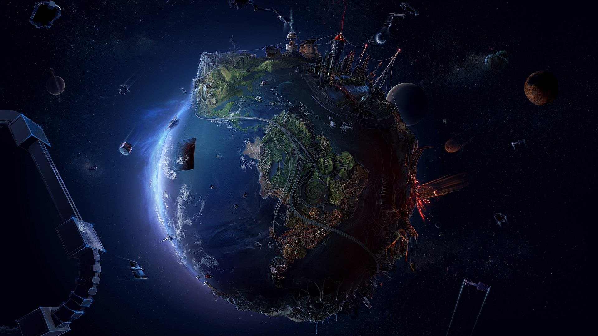Cool Pictures Earth Space HD Wallpaper of Galaxy   hdwallpaper2013com 1920x1080
