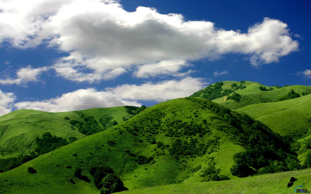 Wallpaper Green mountains 1280 x 800 widescreen Desktop wallpapers 1280x800