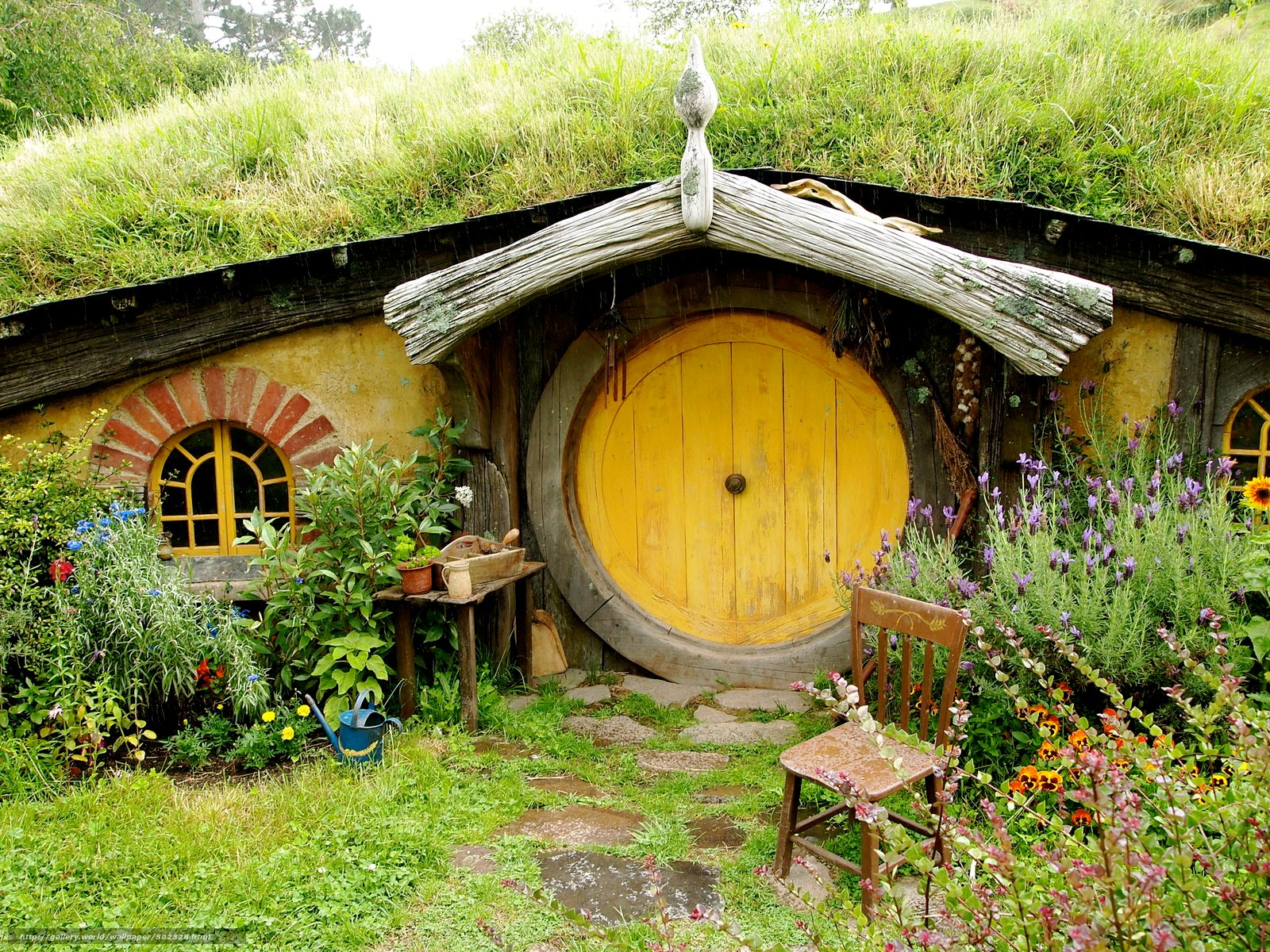 wallpaper new zealand Hobbit House landscape desktop wallpaper 1600x1200
