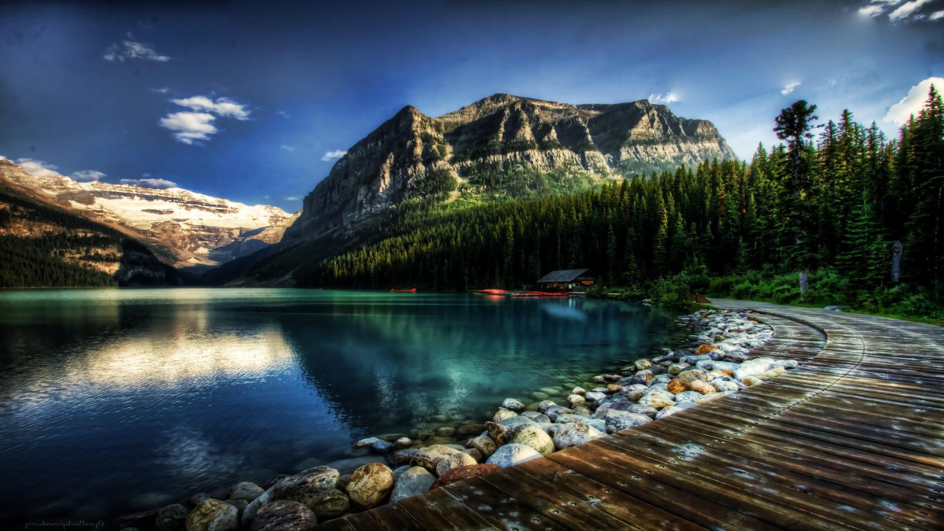 Pics Photos   Hd Canoe In Canadian Lake Wallpaper 1920x1080