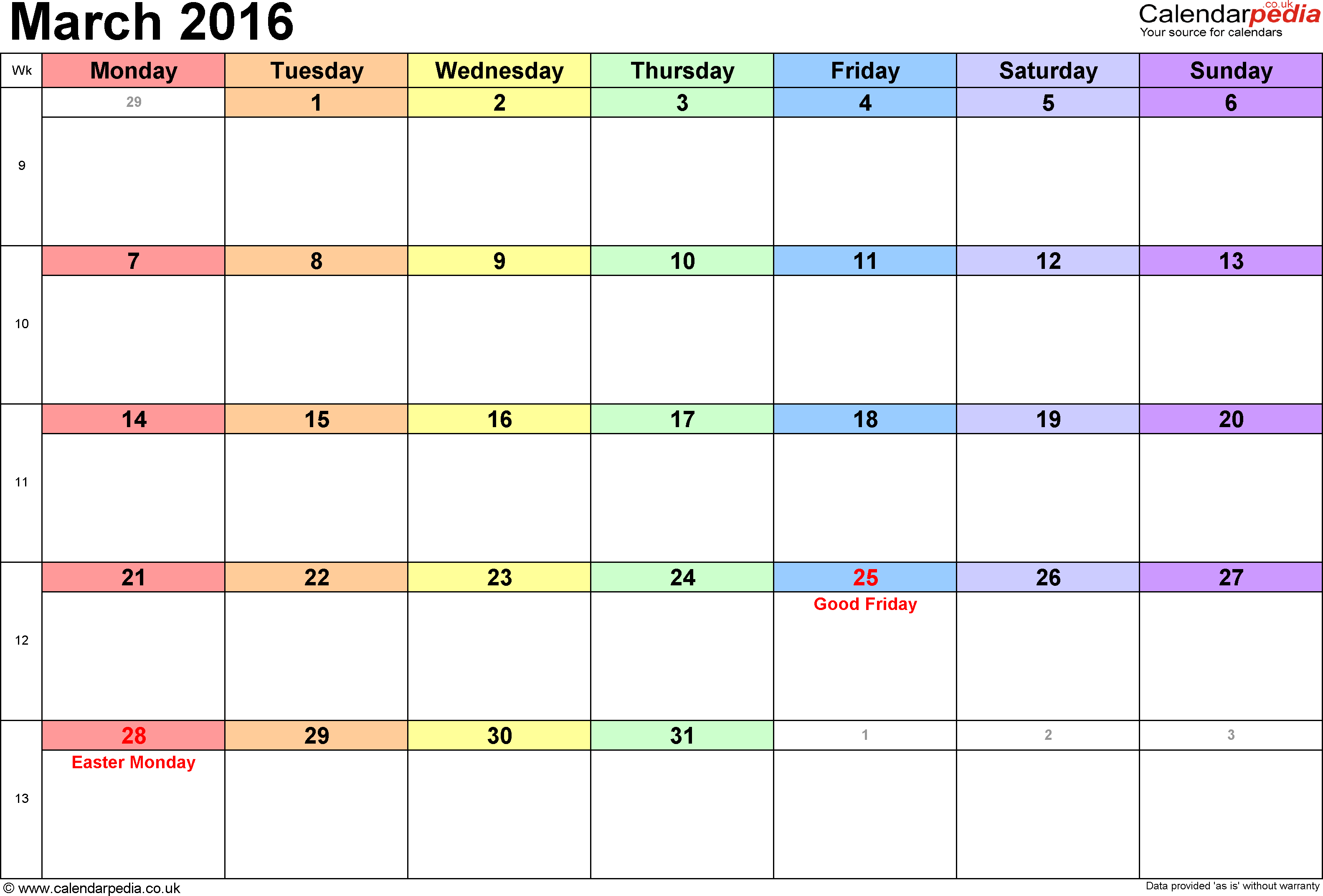 Calendar March 2016 20508 MOVDATA 3168x2146