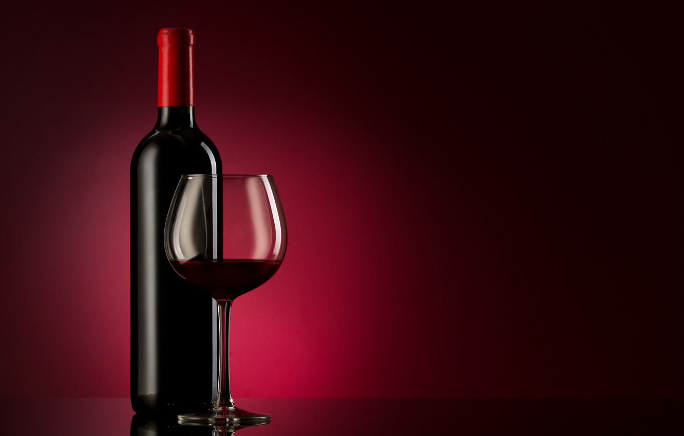 Wallpaper glass background wine red glass bottle alcohol 1332x850