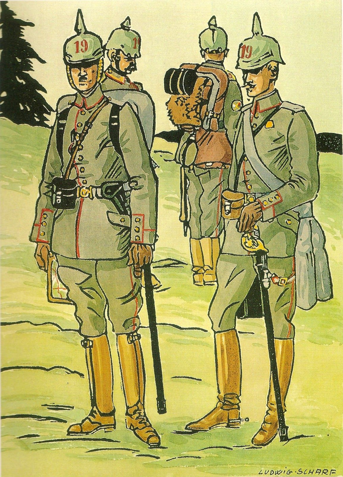 German 19th Infantry Regiment von Courbire 2 Posen 1152x1600