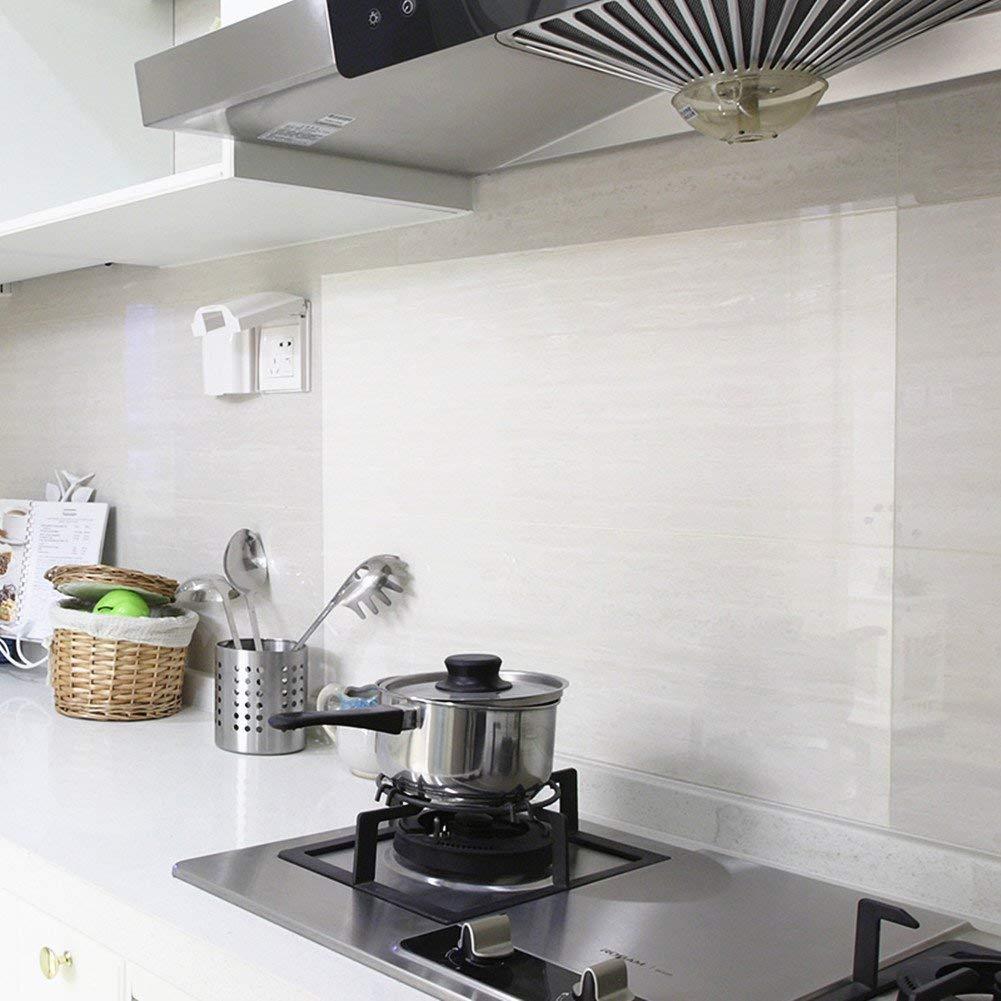 REDODECO 4Pcs Kitchen Backsplash Wallpaper Stickers Waterproof 1001x1001