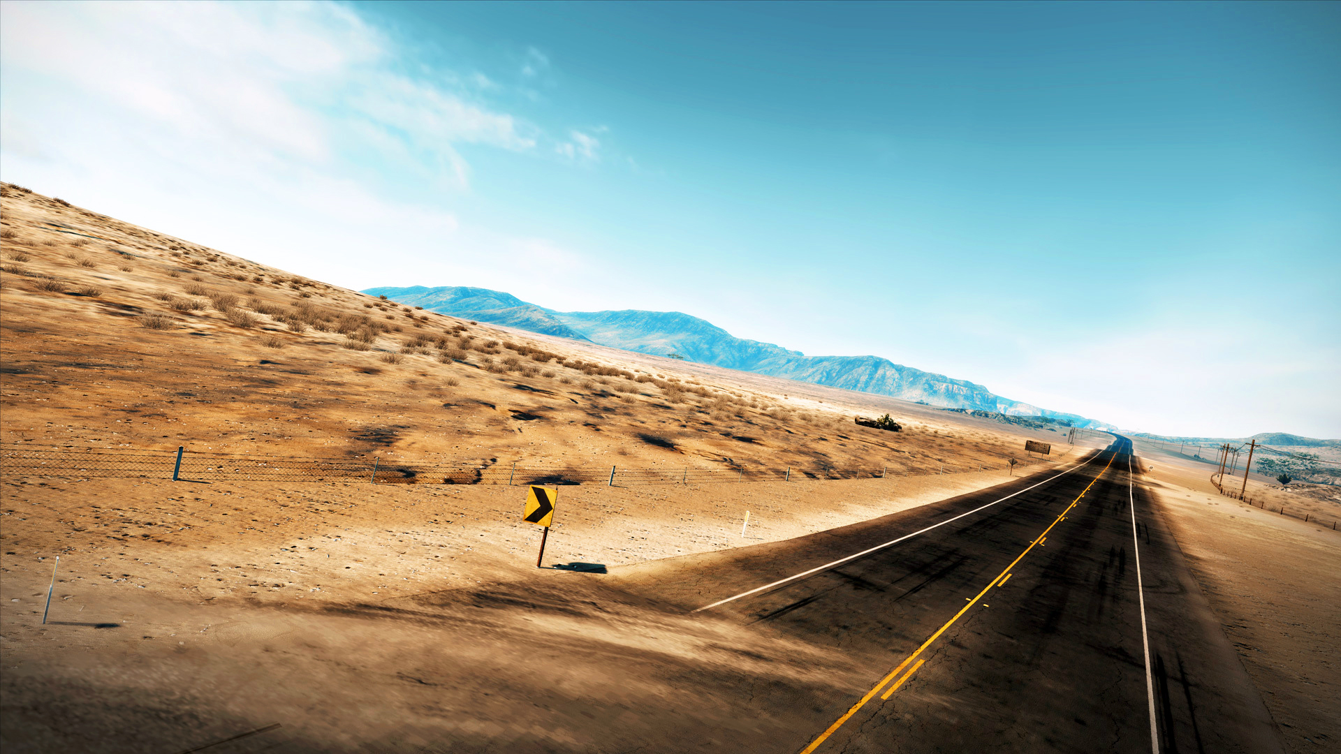 Free Download Desert Road Background Hd Wallpapers