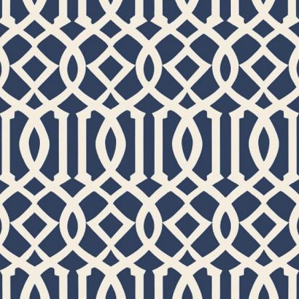 Imperial Trellis II Ivory Navy 5005801 Wallpaper Warehouse 600x600