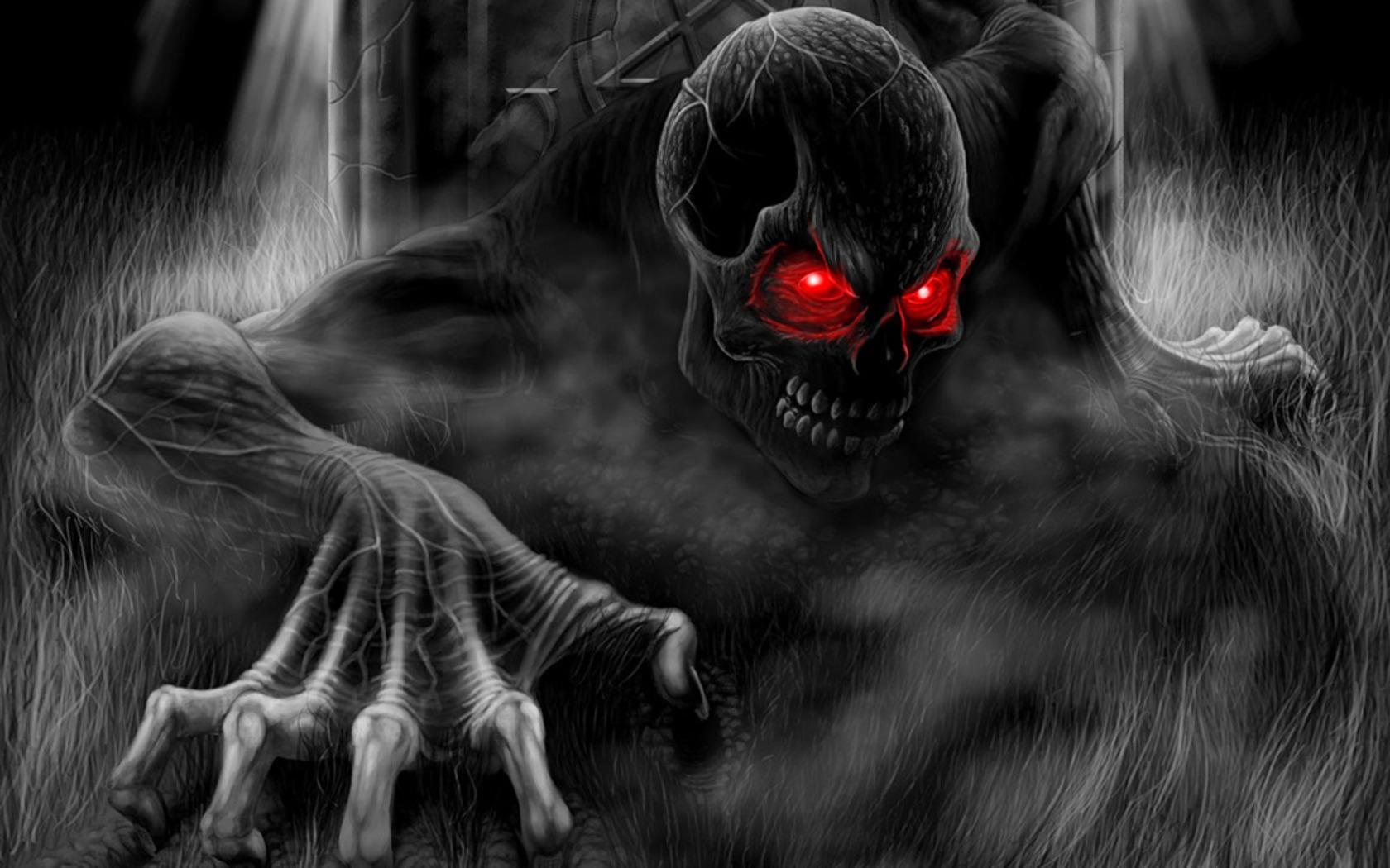Download Dark Skull Wallpaper 1680x1050 Wallpoper 222447 1680x1050