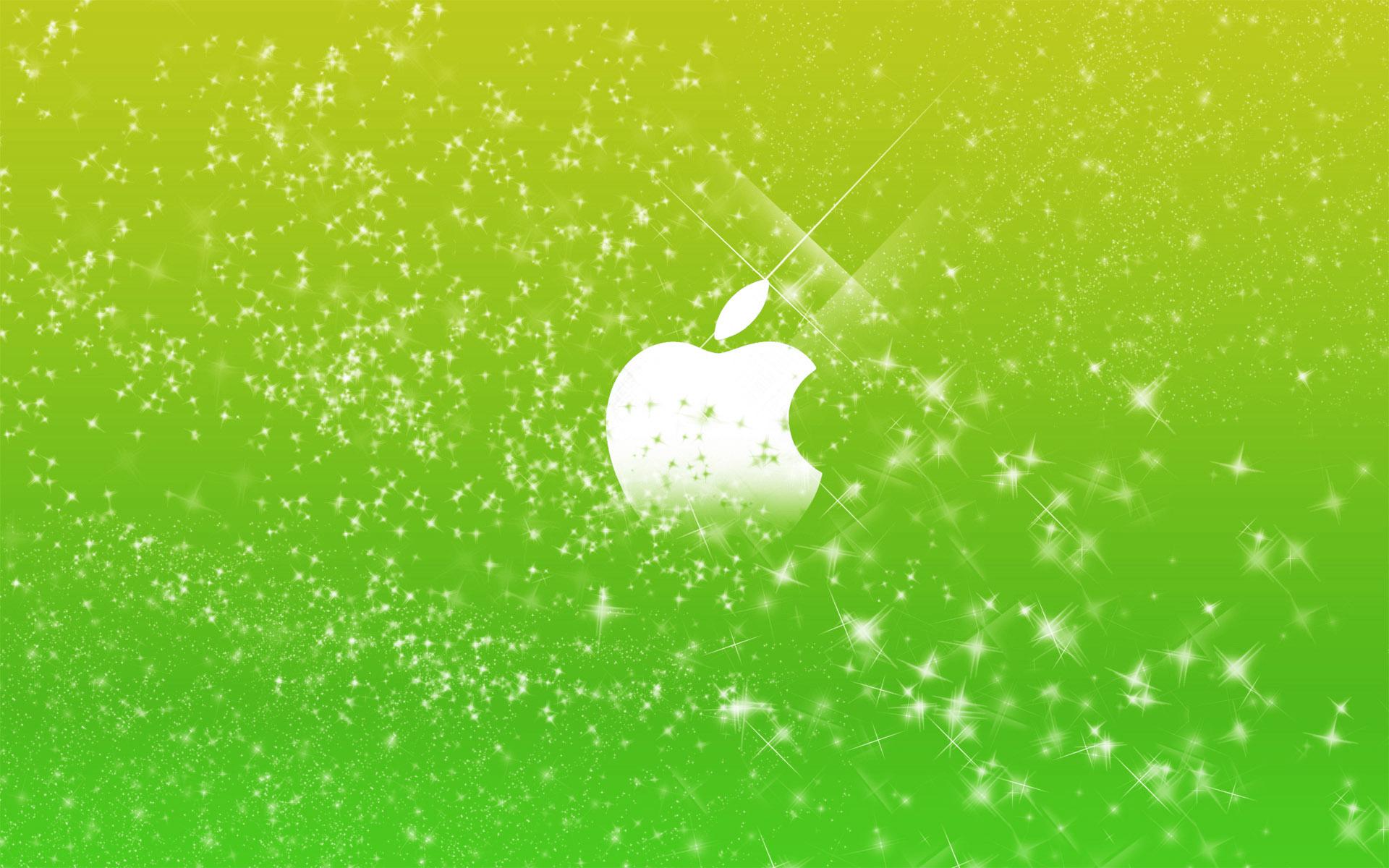 Apple Logo in Green Glitters Wallpapers HD Wallpapers 1920x1200