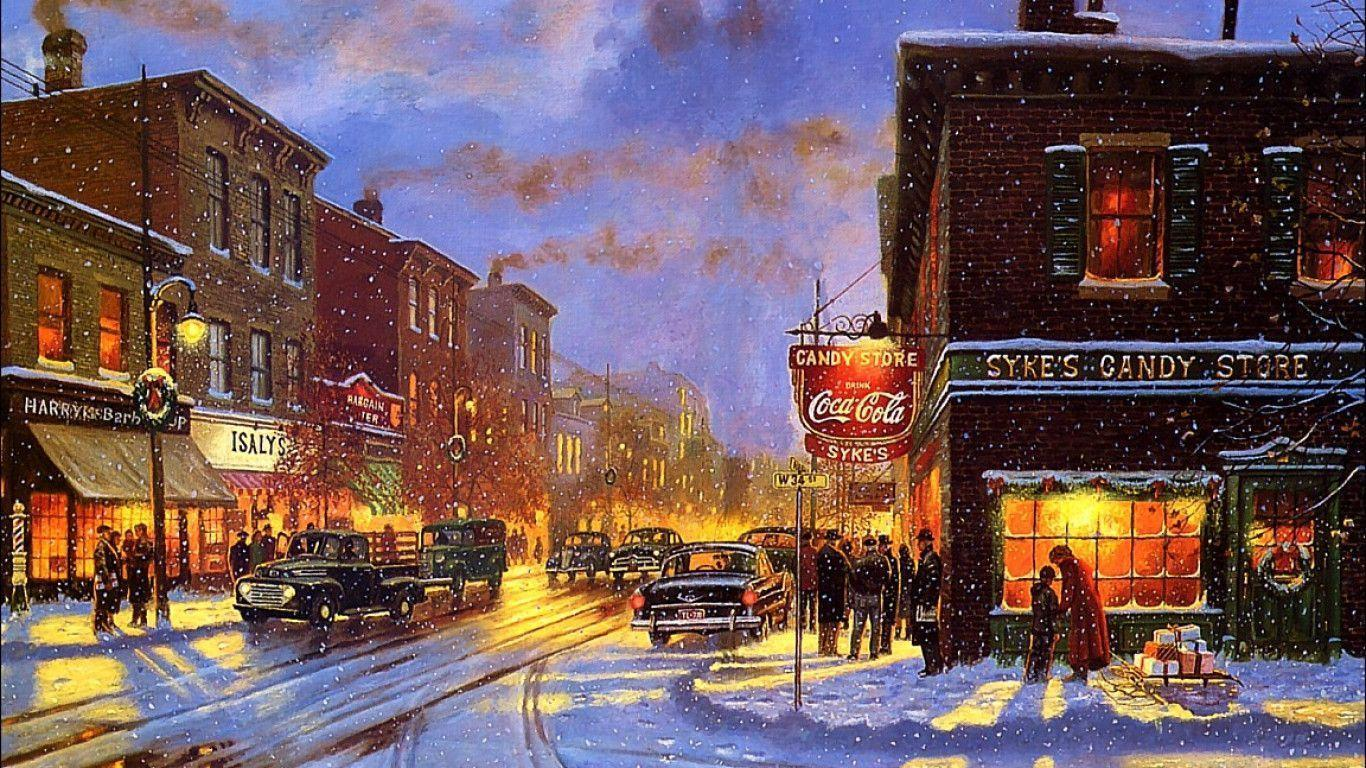 Country Christmas Wallpapers 1366x768