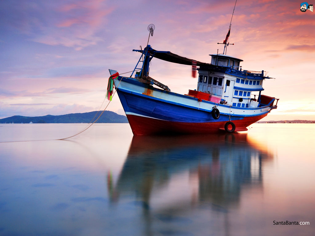 Fishing Boat Wallpaper 1024x768