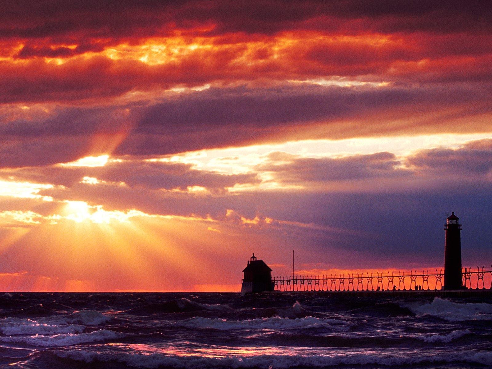 Michigan Lighthouses Desktop Wallpaper Wallpapersafari