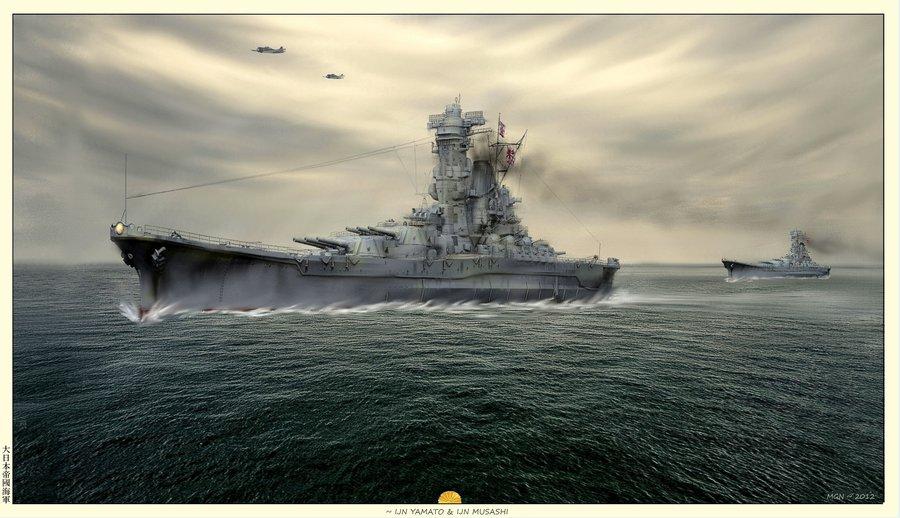 IJN Yamato by zulumike 900x518