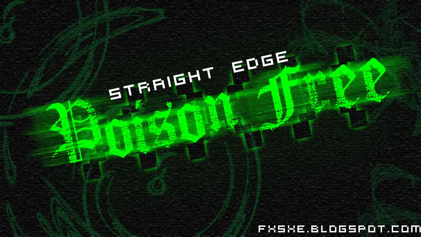 Straight Edge Logo Wallpaper