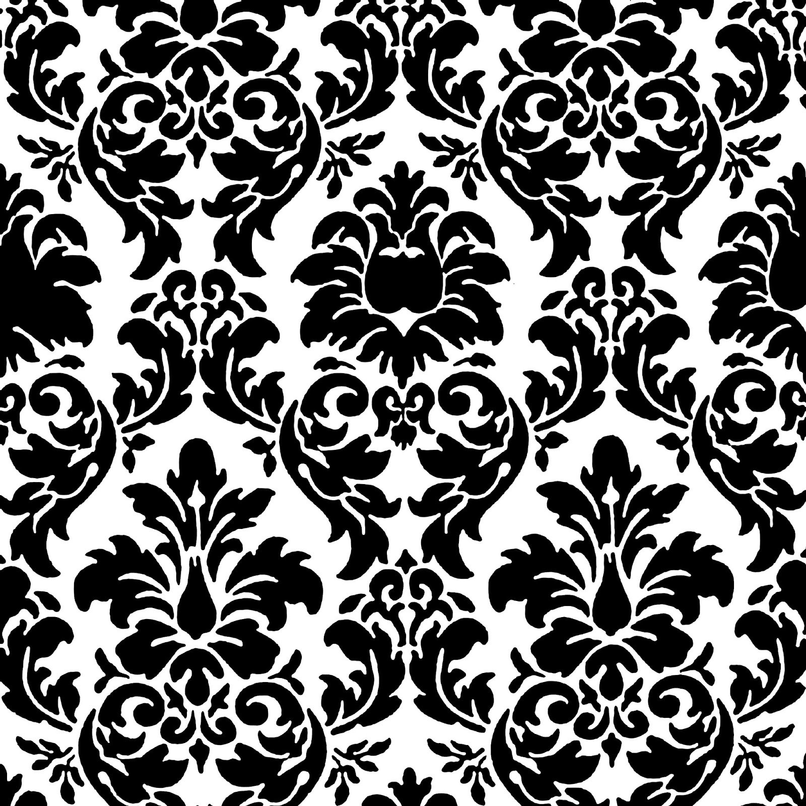 46 Damask Wallpaper Black And White On Wallpapersafari