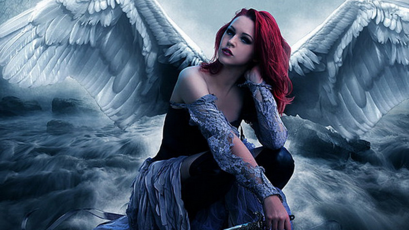 angel angels desktop wallpaper download burst angel angels 1366x768