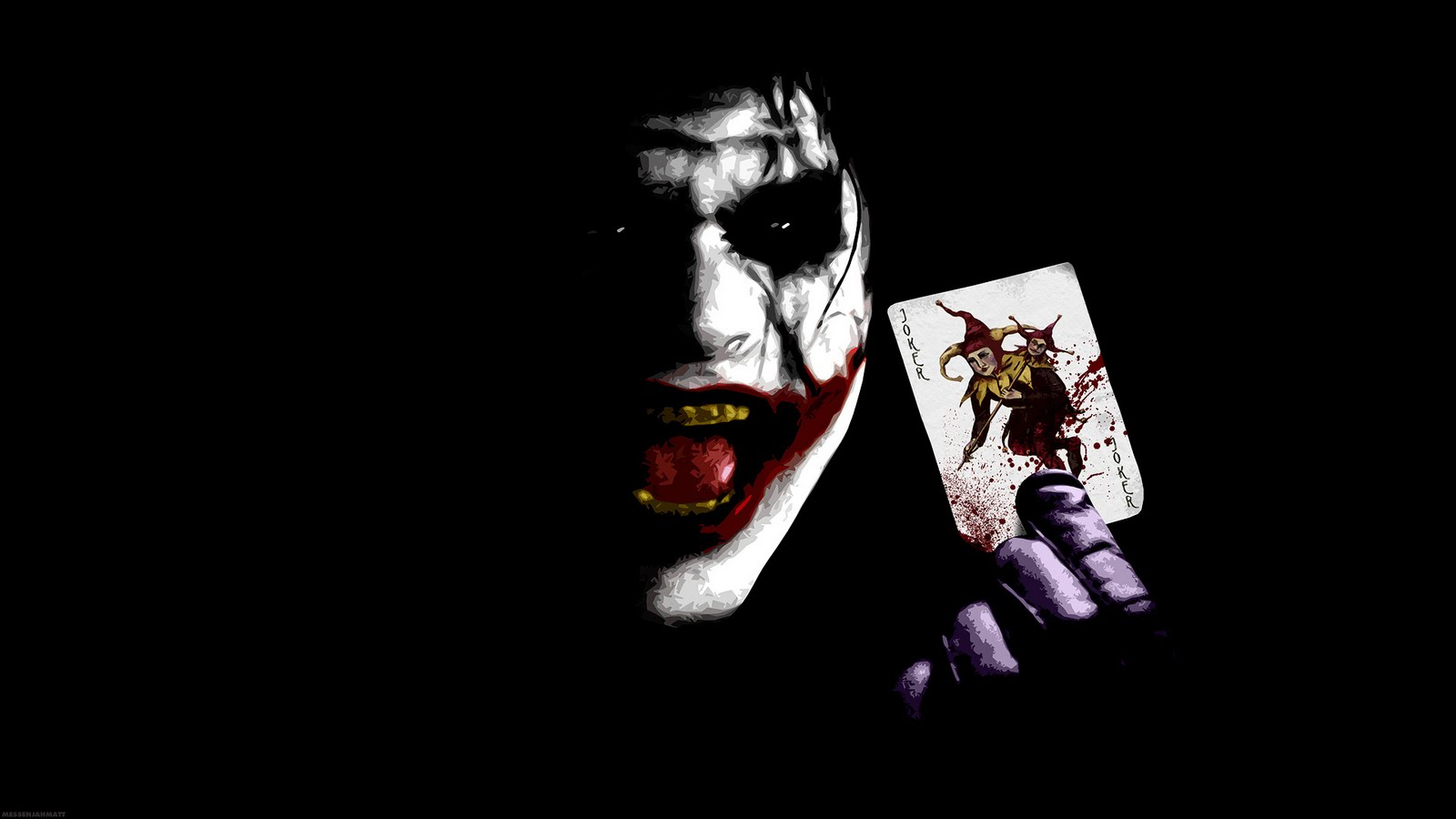 Joker photos images desktop wallpapers 19201080 Black Background 1600x900