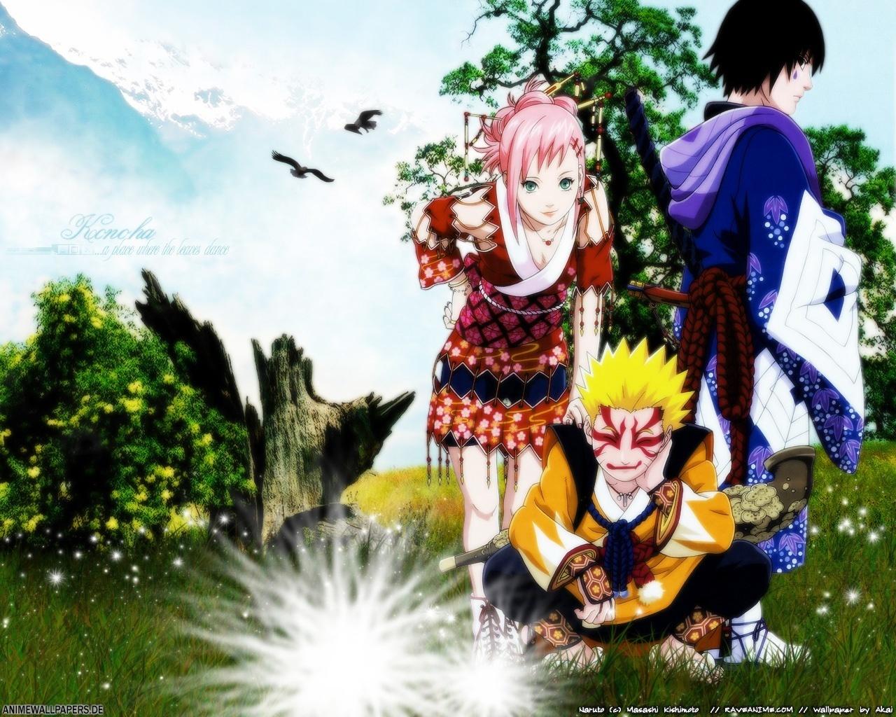 Naruto Naruto   3 Friends 1280x1024
