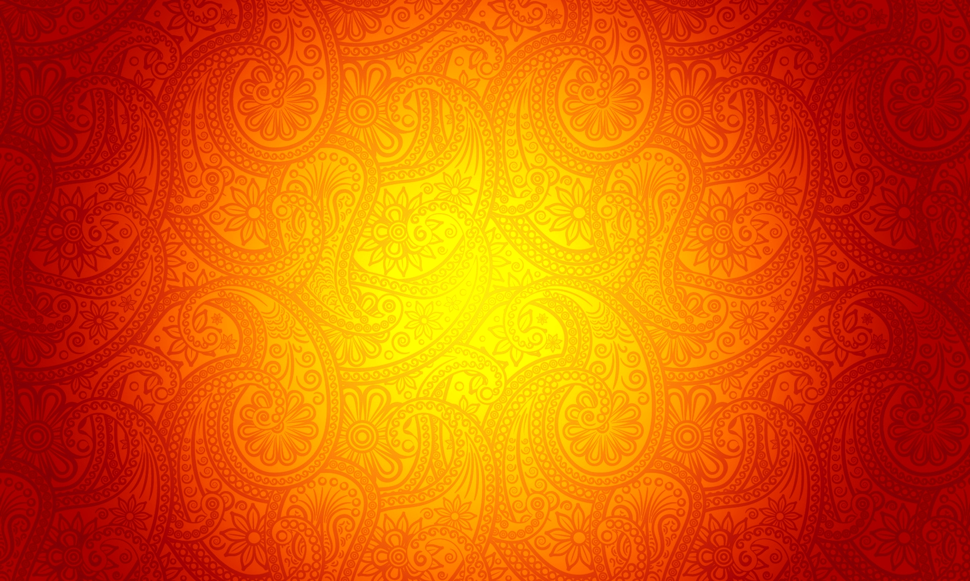 Orange Background with Ornamental Patterns Manarat Al Tibyan 1920x1150