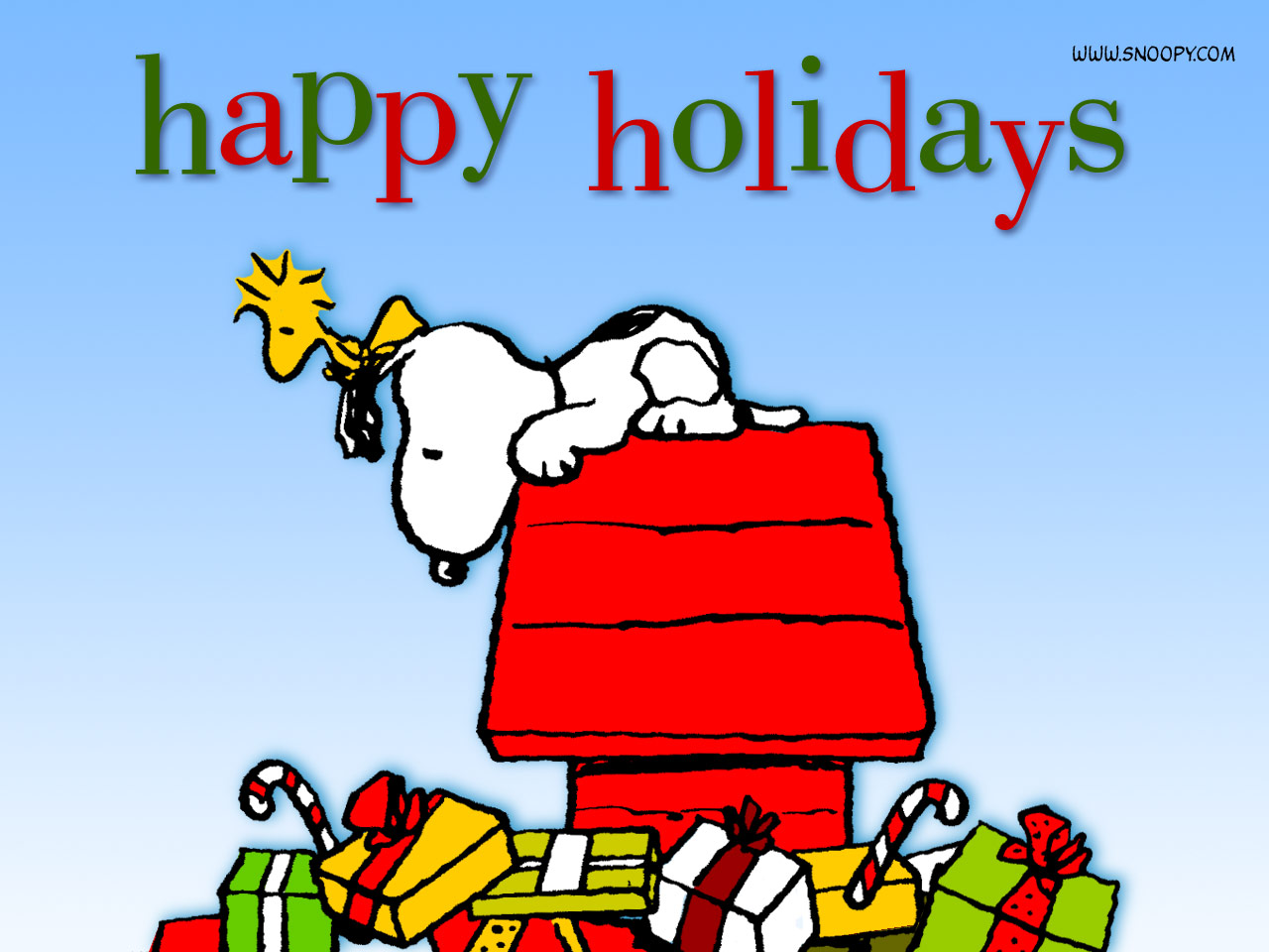 Peanuts Snoopy Christmas 1280x960