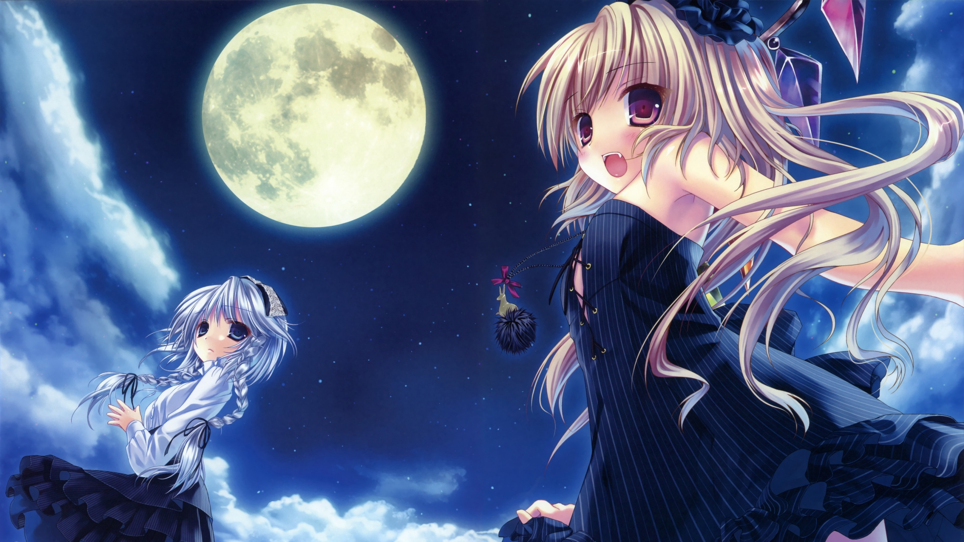 full moon anime wallpaper wallpapersafari