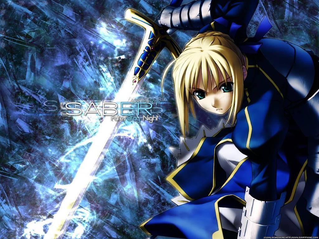 Fate Zero Saber FateZero 1024x768