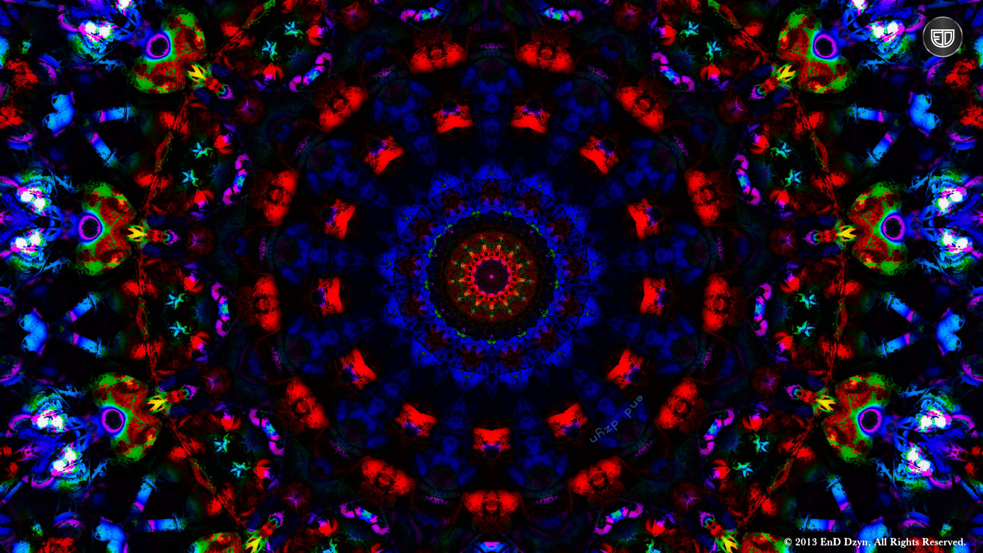 Wallpaper Background Colorful Trippy 3D Psychedelic HD Wallpaper 1920x1080