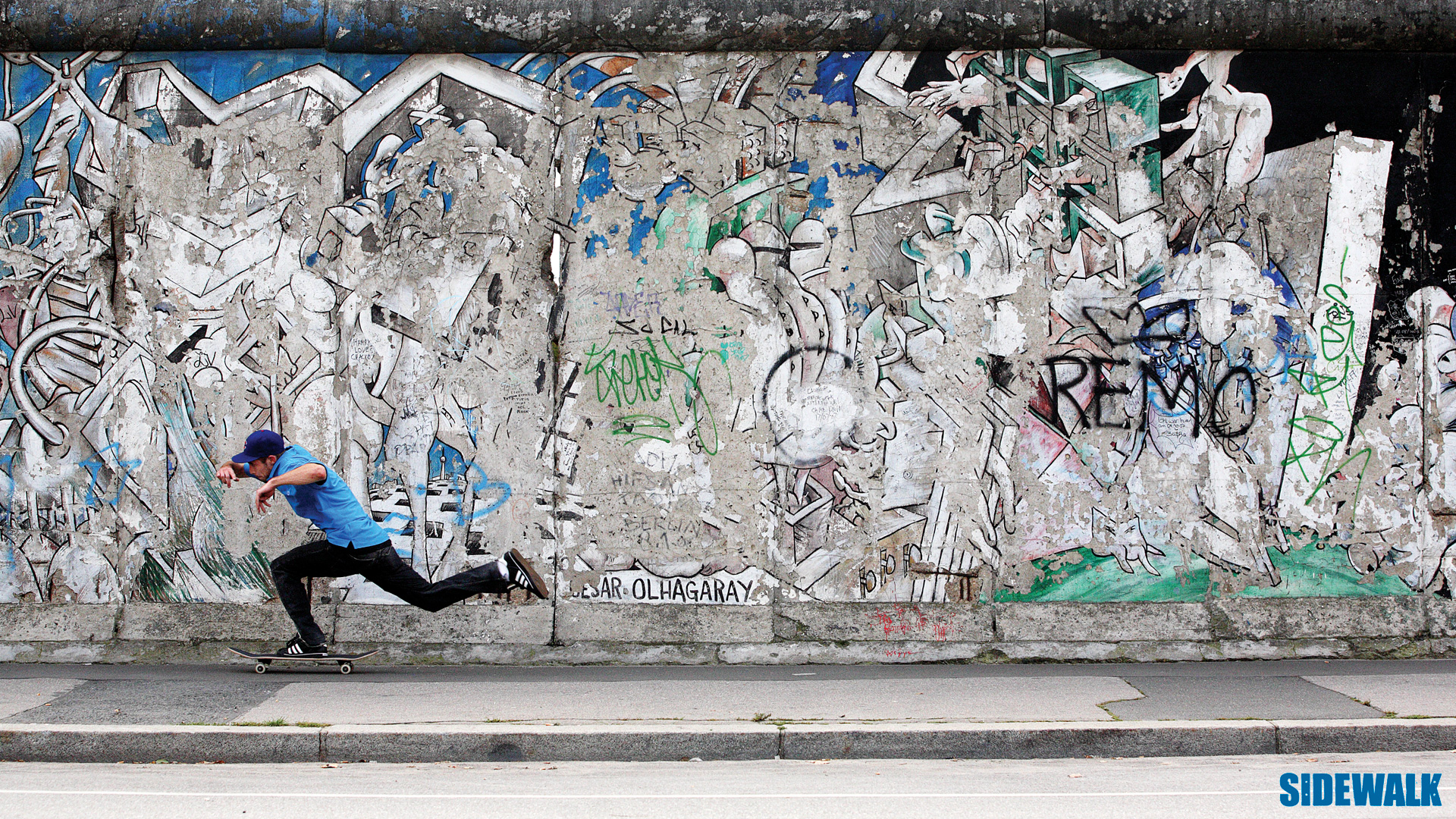 Wallpaper number 2 Chewy Cannons Berlin wall push 1920x1080