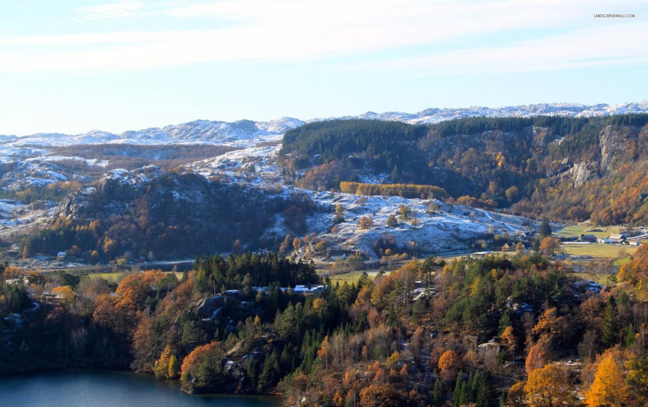 Autumn Early Winter Lake fondos de pantalla Late Autumn Early Winter 1280x804