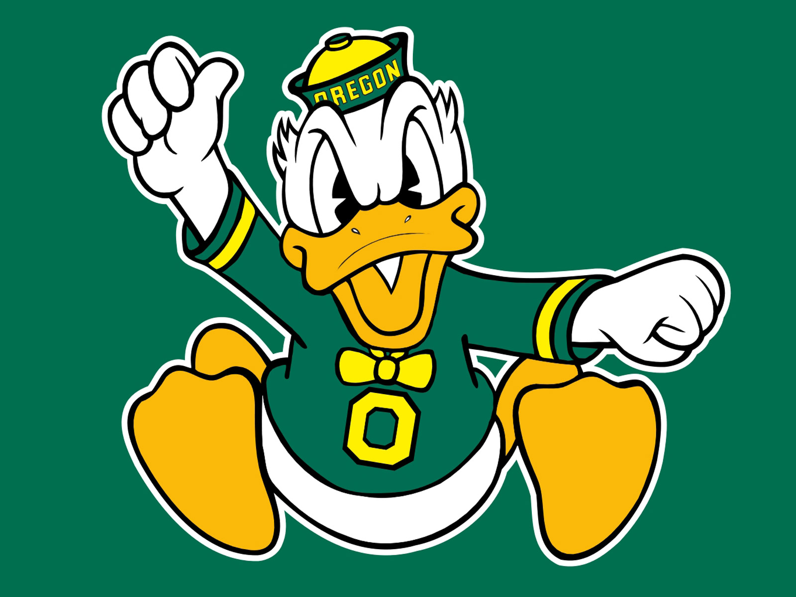 Oregon Ducks Football Logo computer desktop wallpapers pictures 1600x1200