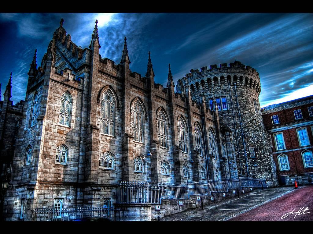 Dublin Castle   Ireland A good shot of the Dublin Castle at night 1024x768