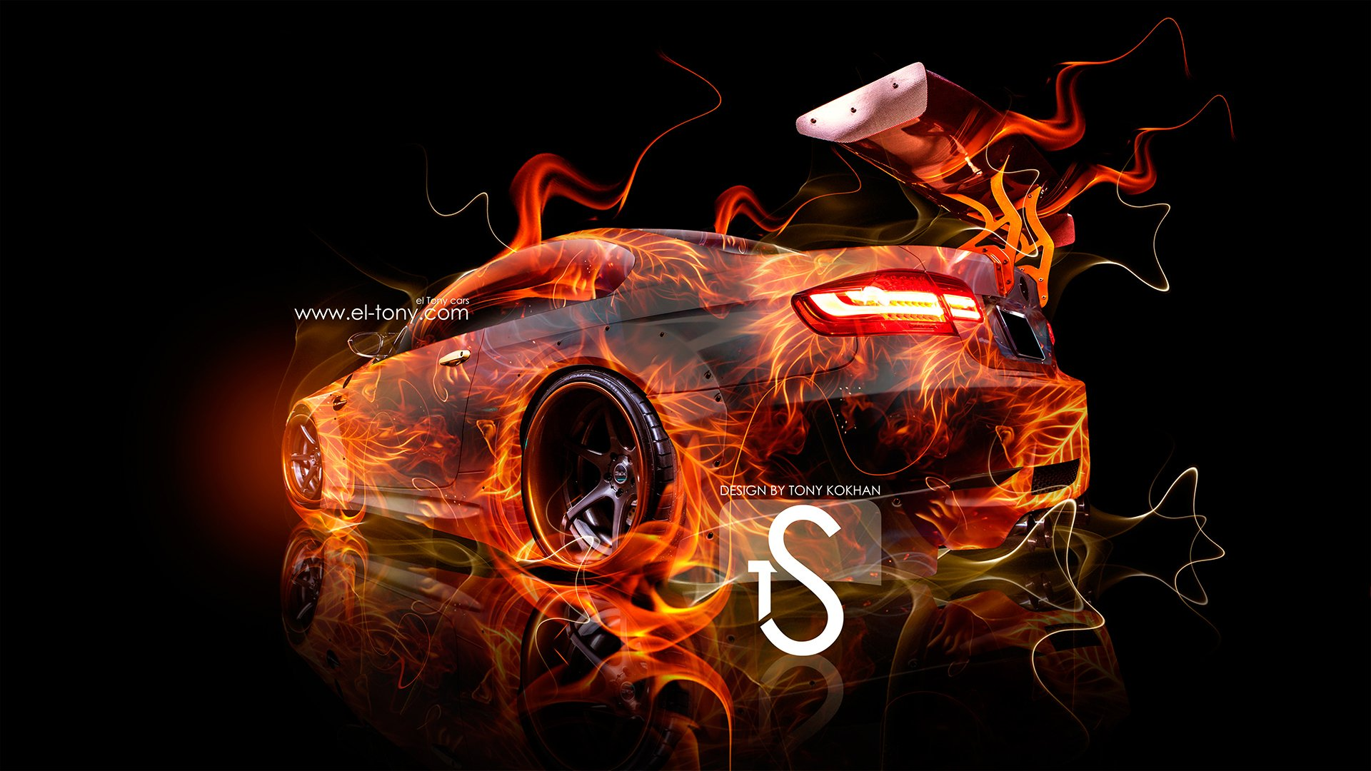fire car 2013 abstract art hd wallpapers design by tony Car Pictures 1920x1080