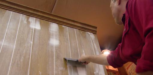 Painting Over Wallpaper Paneling Wallpapersafari