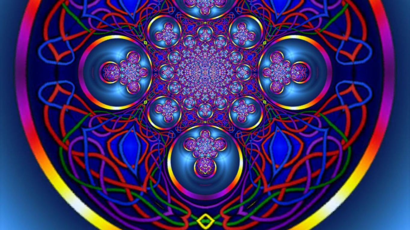 Rainbow string mandala linda mann   151453   High Quality and 1366x768