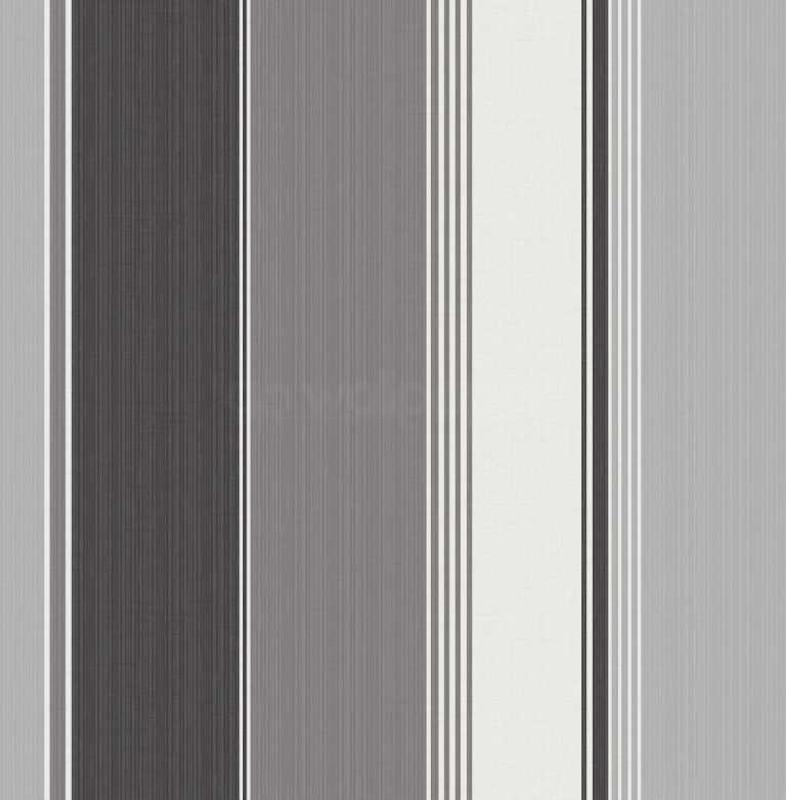 Black White and Silver Striped Wallpaper by Debona 786x800