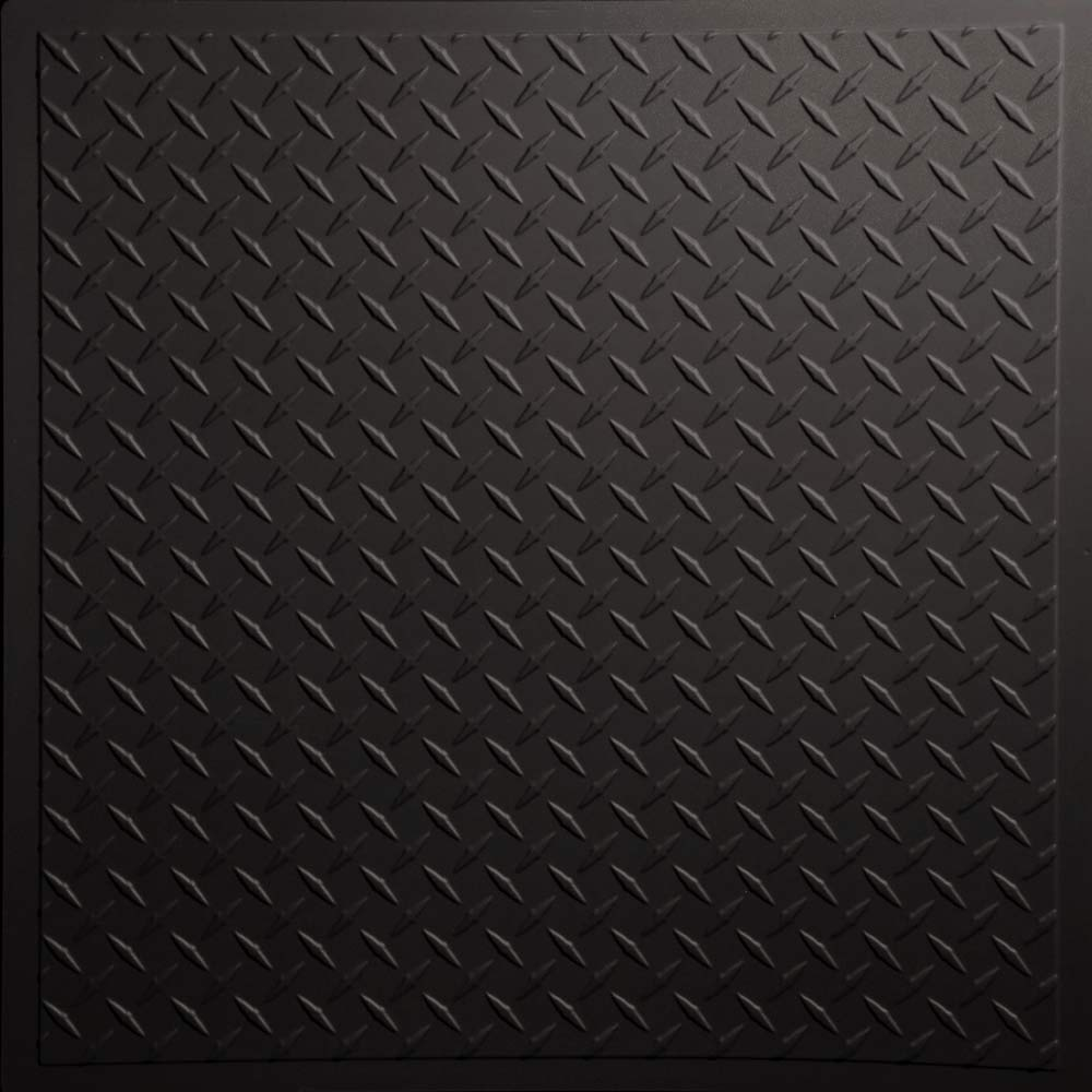 Beibehang Large Custom Wall Paper Cool Metal Texture: Black Diamond Plate Wallpaper