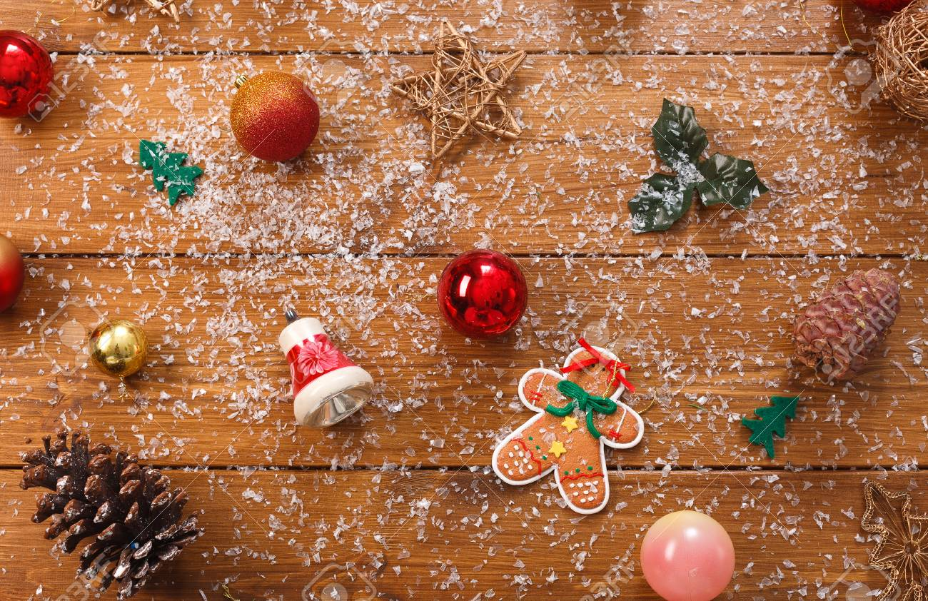 Christmas Tree Decorations Background Prepare For Xmas Eve Or 1300x842