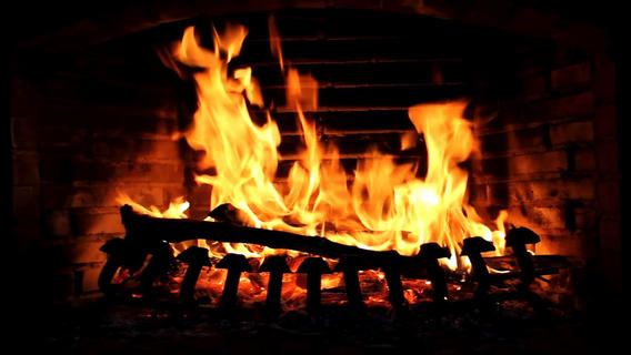 Fireplace live HD Relaxing romantic fires Soothing white noise 568x320