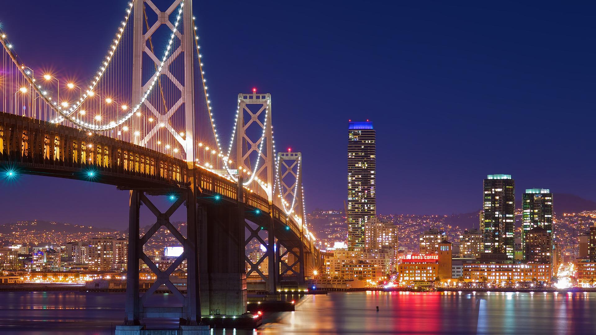 Pics Photos   San Francisco Nights Wallpaper Hd 1920x1080